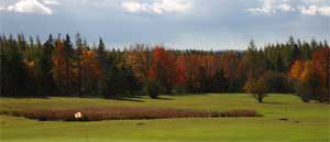 number 8 hole - golfing at baddeck
